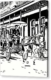 French Quarter Wheels 2 Acrylic Print by Steve Harrington