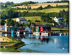 French River Acrylic Print by Matt Dobson