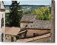 French Roofs Acrylic Print by Georgia Fowler