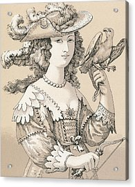 French Seventeenth Century Costume Acrylic Print by French School