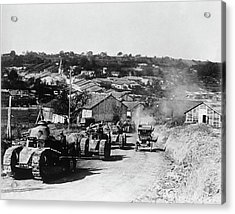French Tanks Acrylic Print by Library Of Congress/science Photo Library