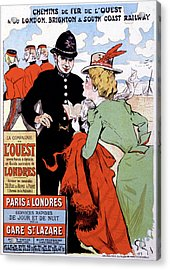 French Travel Advertising Poster Acrylic Print