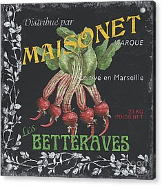 French Veggie Labels 2 Acrylic Print
