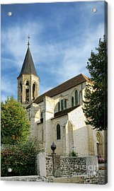 French Village Church Acrylic Print by Olivier Le Queinec