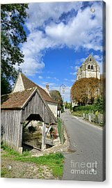 French Village Road Acrylic Print by Olivier Le Queinec