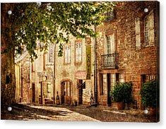 Acrylic Print featuring the photograph French Village Street / Meyssac by Barry O Carroll