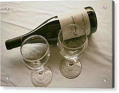 French Wine And Glasses Acrylic Print by Georgia Fowler