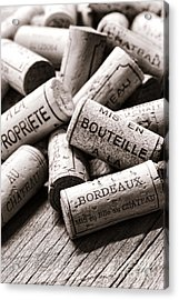 French Wine Corks Acrylic Print by Olivier Le Queinec