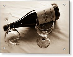 French Wine For Two Toned Acrylic Print by Georgia Fowler