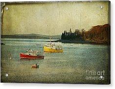 Frenchmen's Bay Fishing Boats Acrylic Print