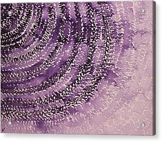Frequency Increase Original Painting Sold Acrylic Print by Sol Luckman