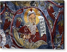 Fresco At The Sumela Monastery Turkey Acrylic Print by Robert Preston
