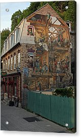 Fresco Wall Art Painting In Quebec City Acrylic Print by Juergen Roth