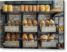 Fresh Baked Bread At Small Town Bakery  Acrylic Print
