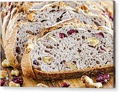 Fresh Baked Cranberry Walnut Bread Acrylic Print by Teri Virbickis