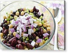 Acrylic Print featuring the photograph Fresh Bean Salad by Maria Janicki