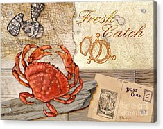 Fresh Catch Dungeness Crab Acrylic Print by Paul Brent