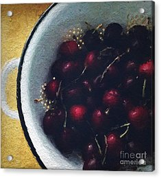 Fresh Cherries Acrylic Print by Linda Woods