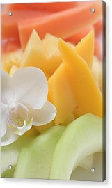 Fresh Fruit And Orchid (close-up) Acrylic Print