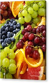 Fresh Fruits Acrylic Print by Elena Elisseeva