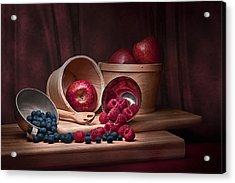 Fresh Fruits Still Life Acrylic Print by Tom Mc Nemar