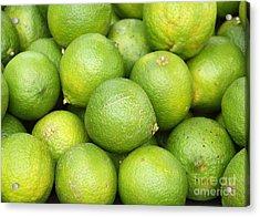 Fresh Green Lemons Acrylic Print by Yali Shi
