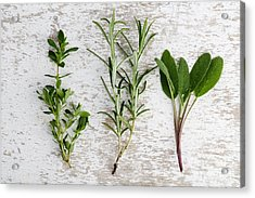 Fresh Herbs Acrylic Print by Nailia Schwarz