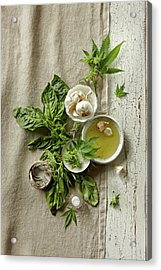 Fresh Ingredients With Marijuana Acrylic Print by Lew Robertson