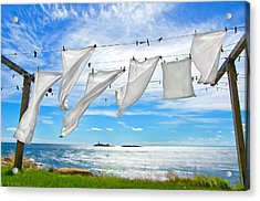 Fresh Laundry Acrylic Print by Donna Doherty