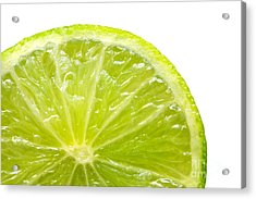 Fresh Lime Isolated On White Background Acrylic Print by Michal Bednarek