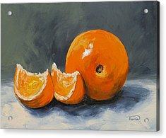 Fresh Orange IIi Acrylic Print by Torrie Smiley