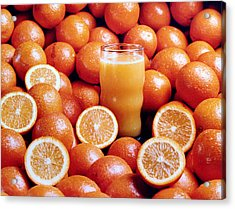 Fresh Orange Juice Acrylic Print