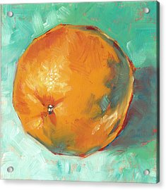 Acrylic Print featuring the painting Fresh Orange by Pam Talley
