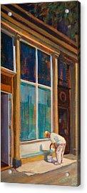 Fresh Paint Acrylic Print by Athena Mantle