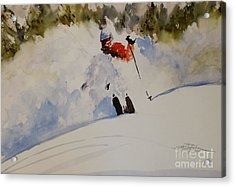 Acrylic Print featuring the painting Fresh Powder by Sandra Strohschein