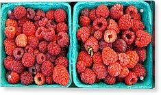 Fresh Raspberries Acrylic Print