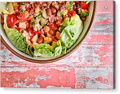 Fresh Salad Acrylic Print by Tom Gowanlock