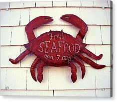 Fresh Seafood Sign Boothbay Harbor Acrylic Print