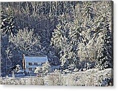 Fresh Snow Acrylic Print by Tom Culver