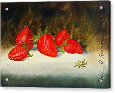 Fresh Strawberries Acrylic Print by Dan Redmon