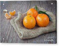 Fresh Tangerine Acrylic Print by Sabino Parente