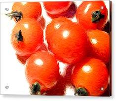 Fresh Tomatos Acrylic Print by Stefan Petrovici