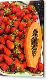 Fresh Tropical Fruit For Sale Acrylic Print