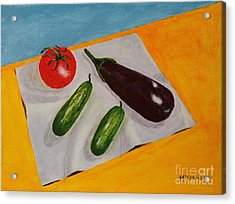 Acrylic Print featuring the painting Fresh Vegies by Melvin Turner