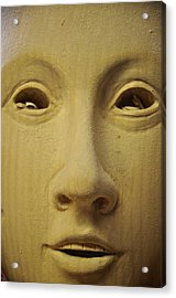 Freshly Carved Face Acrylic Print by Matt MacMillan