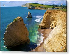 Acrylic Print featuring the digital art Freshwater Bay by Ron Harpham
