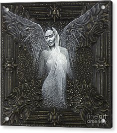 Frida Guardian Of The Arts Acrylic Print by Lorena Rivera