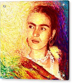 Frida In Color Of Joy Acrylic Print by Shubnum Gill