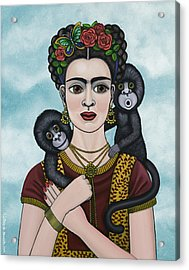 Frida In The Sky Acrylic Print