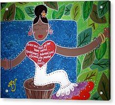 Frida Kahlo Acrylic Print by Angela Yarber